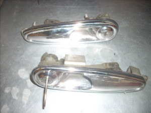 Pair outer door handles with key