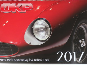 イタリアンクラシックの部品屋さんのカレンダー