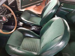 白のボディに緑の内装