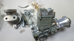 Complete carburetor kit 32/28, Fiat 500-126