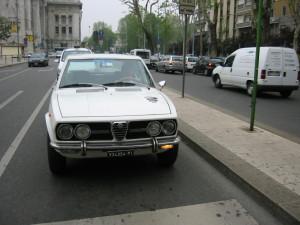 2001年ころに ミラノ市内を走る私でした。